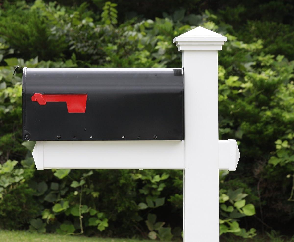 The Homestead Vinyl / PVC Mailbox Post (Includes Mailbox)