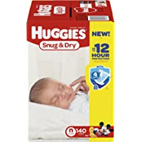 Huggies Snug and Dry Newborn 140 Count Diapers