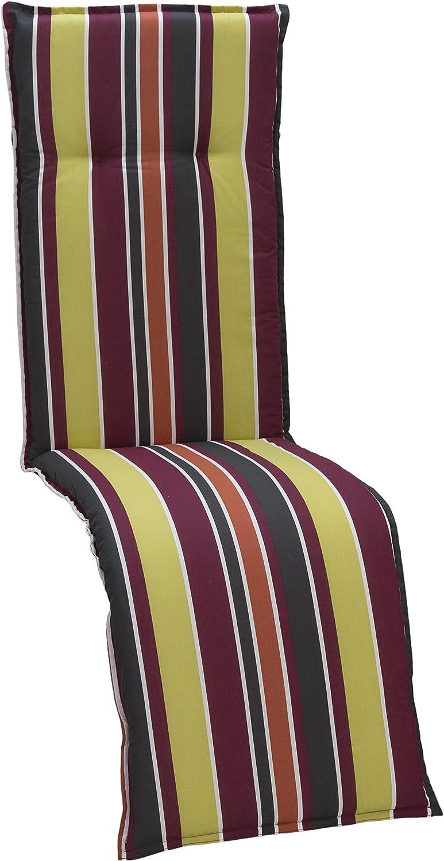 Gartenstuhlkissen Sitzkissen Polster Stuhlkissen für Relaxstuhl Streifen hellgrün orange anthrazit weiss lila