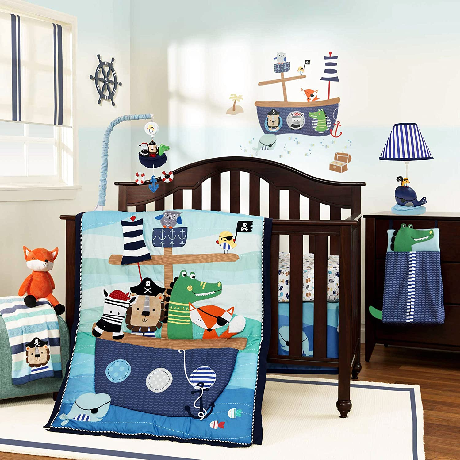 Lambs and Ivy Little Pirates Baby Bedding