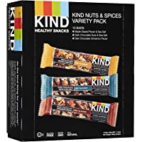 Kind Nuts and Spices Variety Pack, Gluten Free, 1.4 Ounce Bars, 12 Count