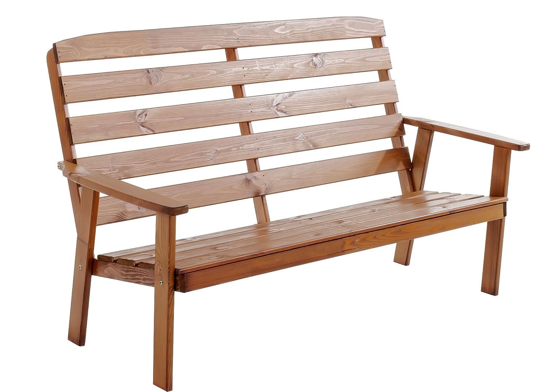 Ambientehome 90330 3-er Bank Gartenbank Holzbank Loungebank Massivholz Hanko Maxi, braun jetzt bestellen