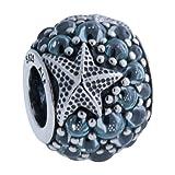Pandora Women's Oceanic Starfish Charm - 791905CZF (Color: Silver)