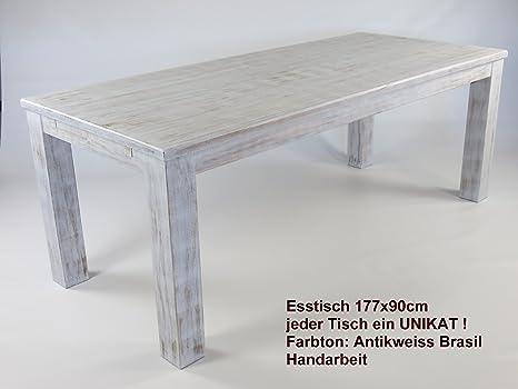 Tavolo da pranzo in legno di pino massello tavolo di circa 180x 90cm in antikweiss Brasil