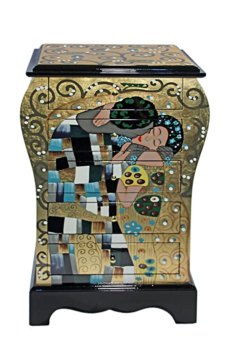 Casa Collection  Art for living by Jänig 10651 - Cómoda con 5 cajones, (lacada, 72 x 45 x 31 cm), diseño de El beso de Gustav Klimt