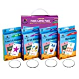 Star Right Flash Cards Set of 4 - Numbers, Alphabets, First Words, Colors & Shapes - Value Pack Flash Cards with Rings for Pre K - K (Tamaño: Set of 4 Flash Cards)