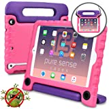 PURE SENSE BUDDY Kids Case compatible with iPad Mini 3, iPad Mini 2, iPad Mini 1 | Anti Microbial Heavy Duty Shock Proof Cover for Kids | Protective, Boys, Girls | Shoulder Strap, Handle, Stand (Pink) (Color: Pink, Tamaño: iPad Mini 1 / 2 / 3)