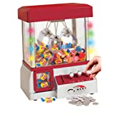 TSF Toys Electronic Claw Toy Grabber Machine With LED Lights And Toys (Color: Red)