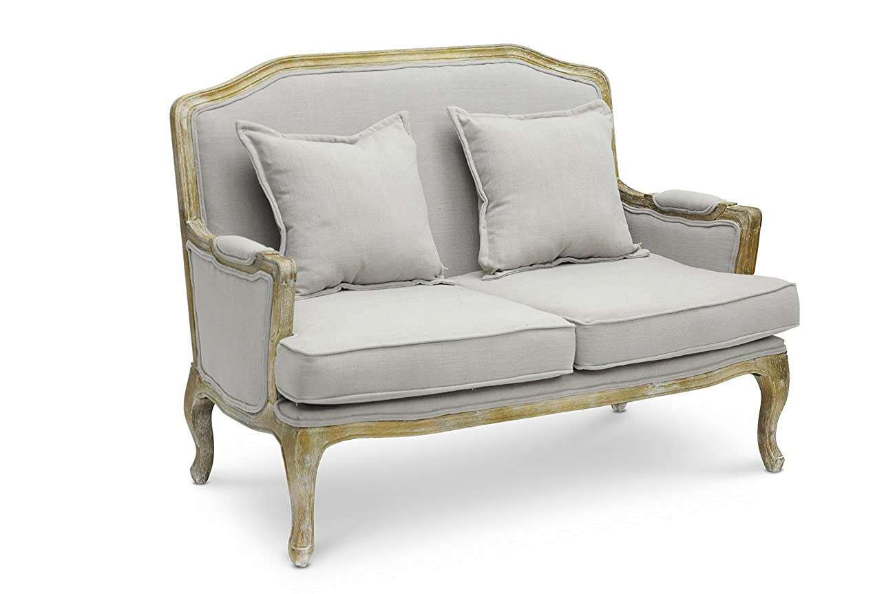 Baxton Studio Constanza Classic Antiqued French Loveseat 0