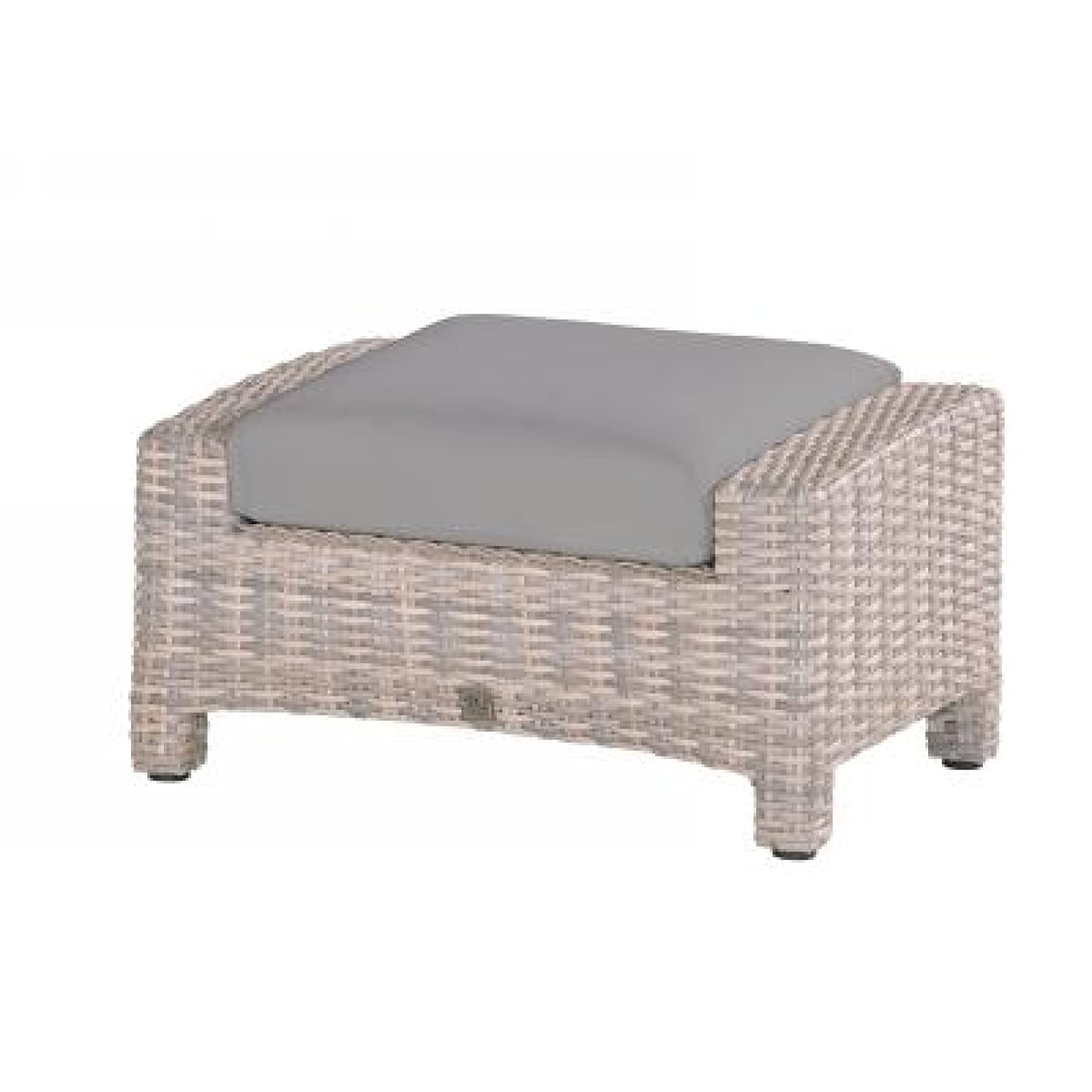 4Seasons Outdoor Fußhocker Mambo inkl Kissen Polyrattan lagun
