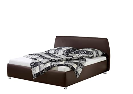 Maintal Betten 234966-4716 Polsterbett Minu 180 x 200 cm, Kunstleder braun