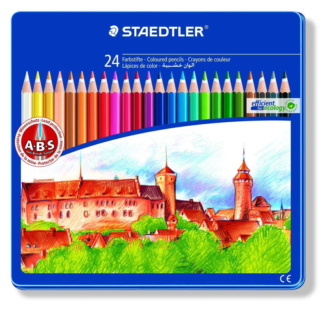 Lápices Staedtler Colorear Castillo Diseño Estaño 24   Más información y revisión del cliente