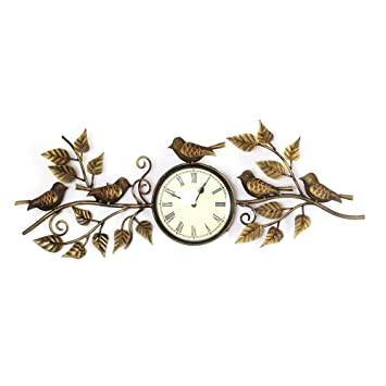 wall clock roman designer antique and eye catchy brass finished wall handicraft