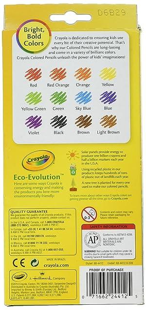 Crayola 12ct Erasable Colored Pencils (Color: Assorted., Tamaño: Pack of 1)
