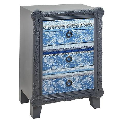 Signes Grimalt Delf Blue  - Mesita, 3 cajones, 48 x 33 x 75 cm
