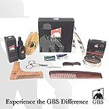 GBS Ultimate Shape and Style Beard Growth Grooming Kit - Beard Oil, Beard Balm, Brush, Barber Scissors,Template comb, Beard Comb, Straight Edge Shavette Razor, Mustache Comb + Blades!