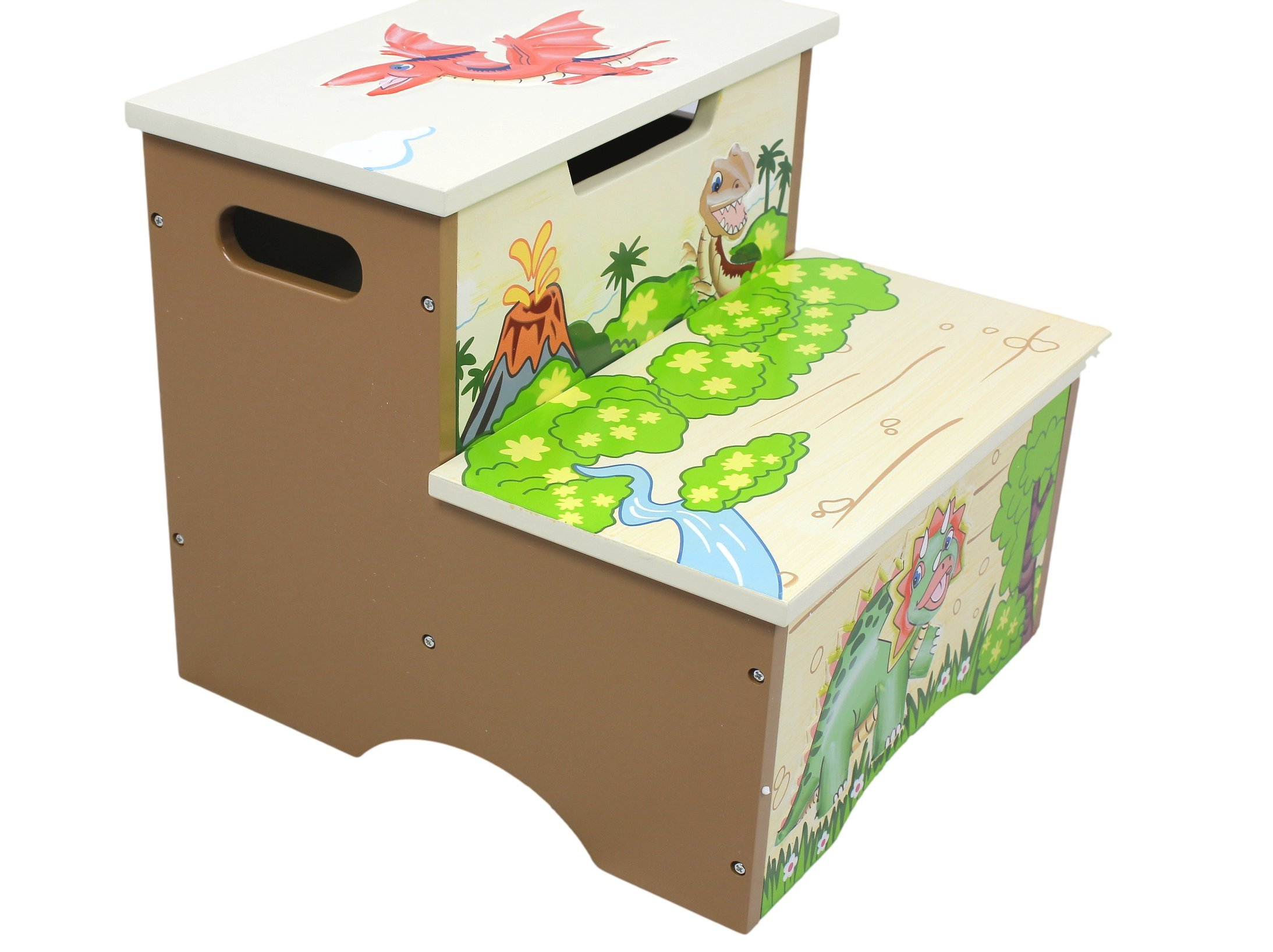 Teamson Kids Wooden Step Stool with Storage Dinosaur Kingdom Room Collection  sc 1 st  FurnitureNDecor.com & Teamson Kids Wooden Step Stool with Storage - Dinosaur Kingdom ... islam-shia.org