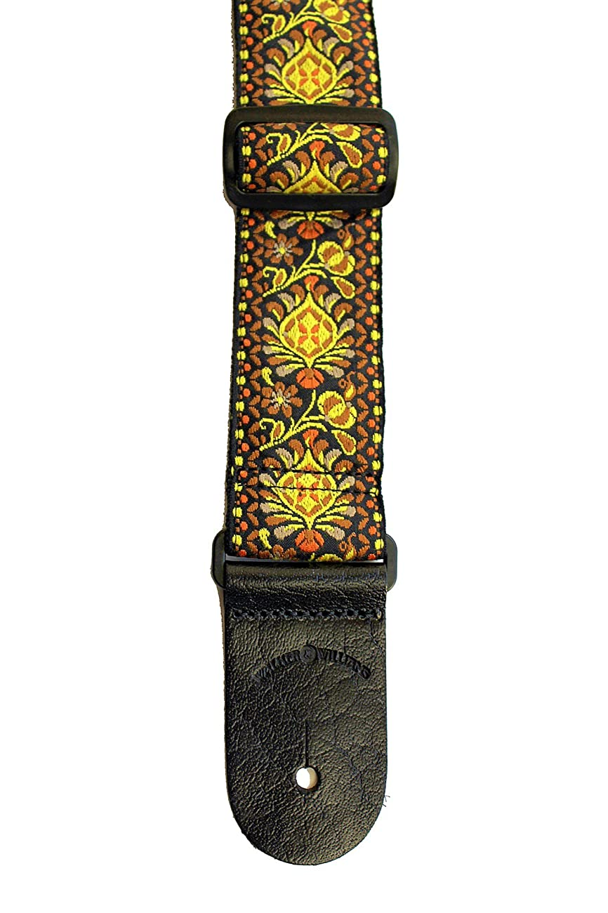 Walker & Williams H-03 Mandala Sun Woven 60's Style Hootenany Hippie Guitar Strap 3
