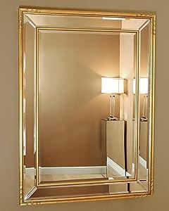 C&M · Casteltermini · Gold Edged Rectangular Venetian Mirror · 113cm x 82cm       Customer reviews and more news
