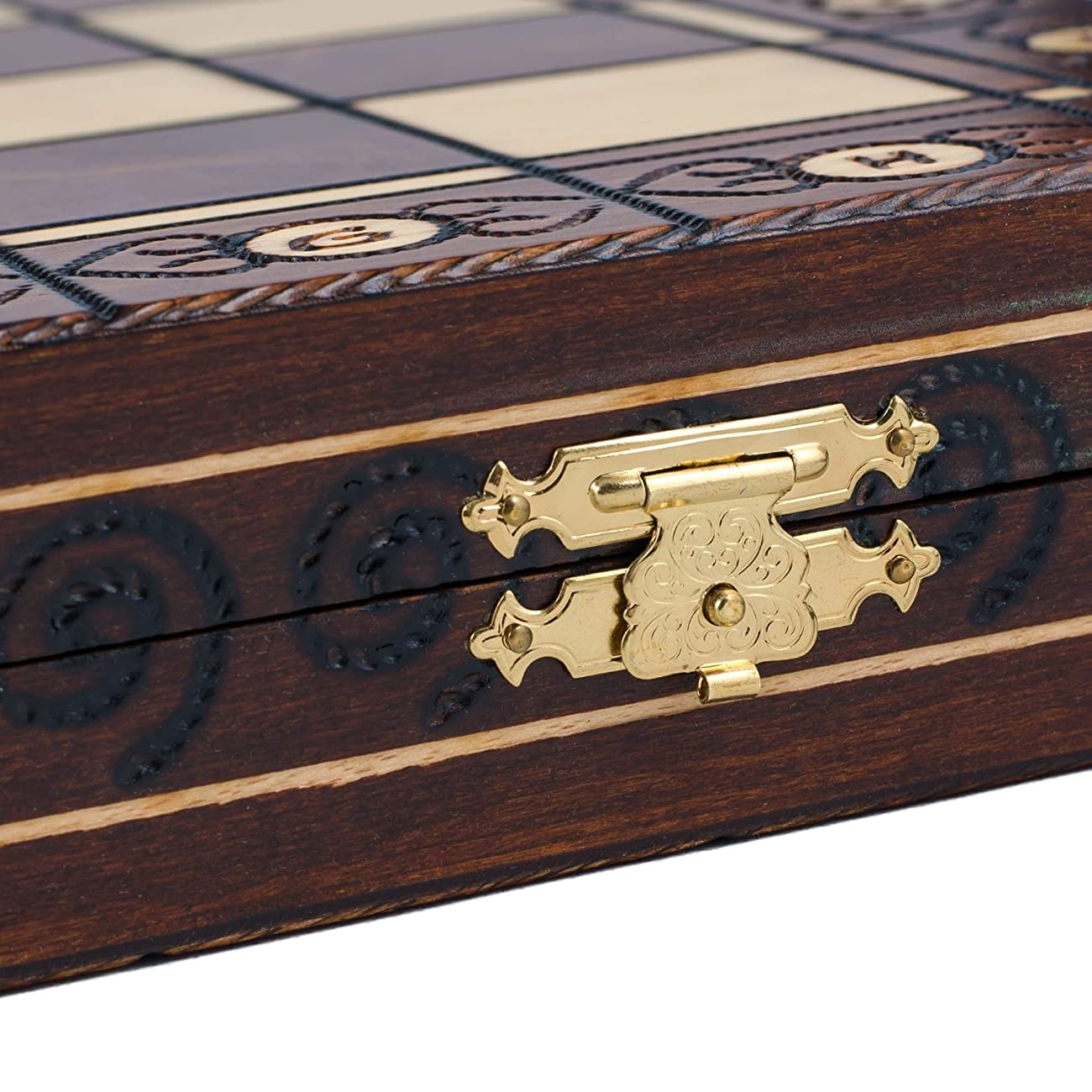 Wegiel Chess Set - Consul Chess Pieces and Board - European Wooden Handmade Game 3