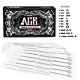 ACE Needles 50 Mixed Assorted Tattoo Needles 10 Sizes - Round Shader 3 5 7 9 11 15 RS RM