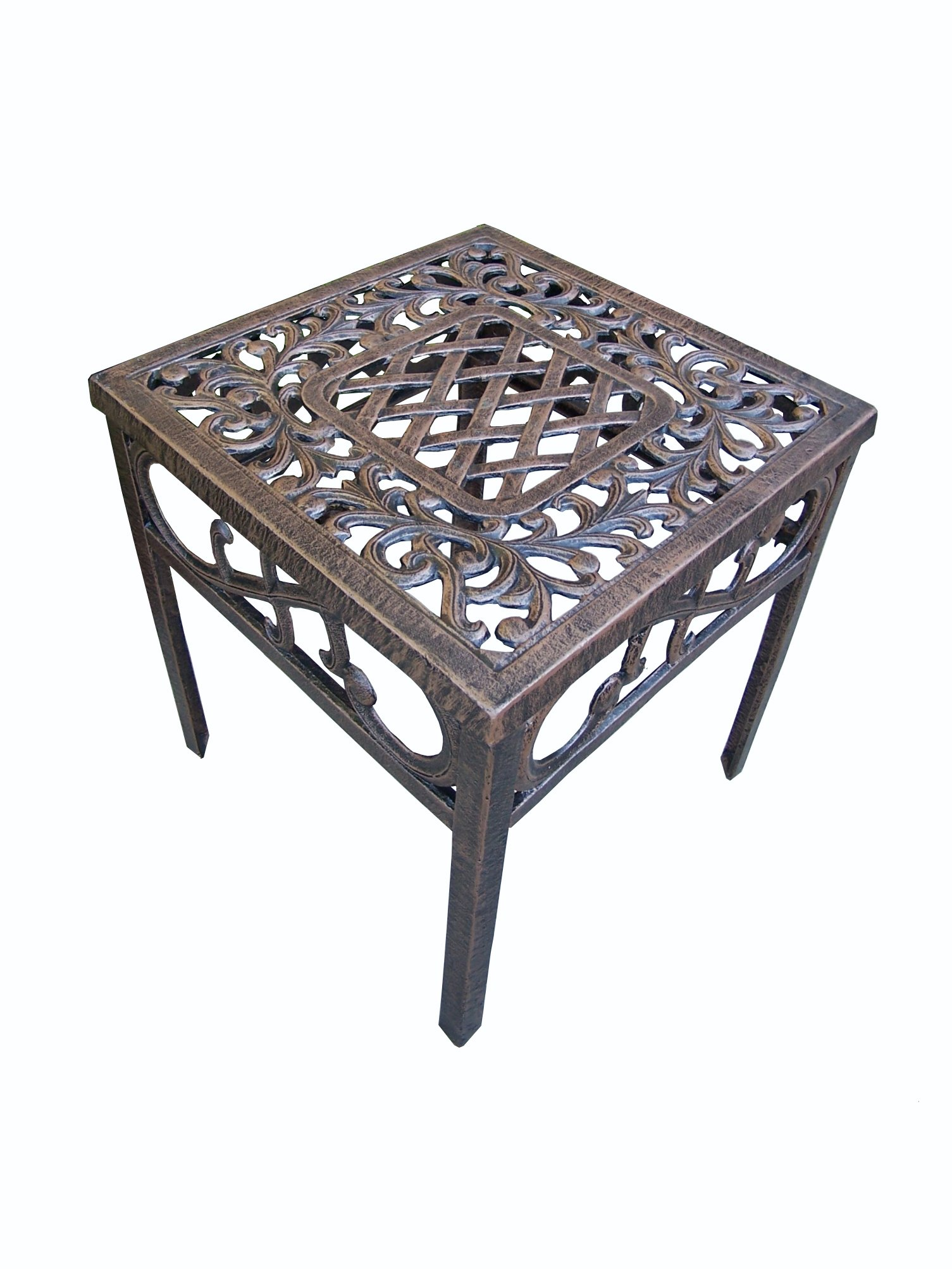 Oakland Living Mississippi Cast Aluminum End Table 18