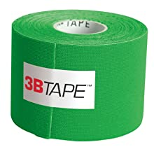 "3B Scientific 1012804 Green Cotton Rayon Fiber Kinesiology Tape, 16' Length x 2"" Width"