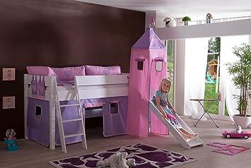 Etagenbett Wickey Jungle Hut Duo : Sale relita hochbett kim aus massivholz weiß mit stoffset flieder