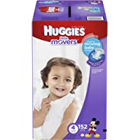 Huggies Little Movers Size 4 152 Count Diapers (One Month Supply)