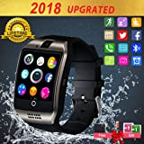 Smart Watch,Smartwatch for Android Phones, Smart Watches Touchscreen with Camera Bluetooth Watch Phone with SIM Card Slot Watch Cell Phone Compatible Android Samsung iOS i Phone X 8 7 6 5 Men Women (Color: Black)