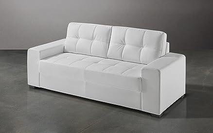 Dafnedesign.com - Divano ufficio 2 posti cm. 171 x 91 x 89h - Similpelle bianco lavabile
