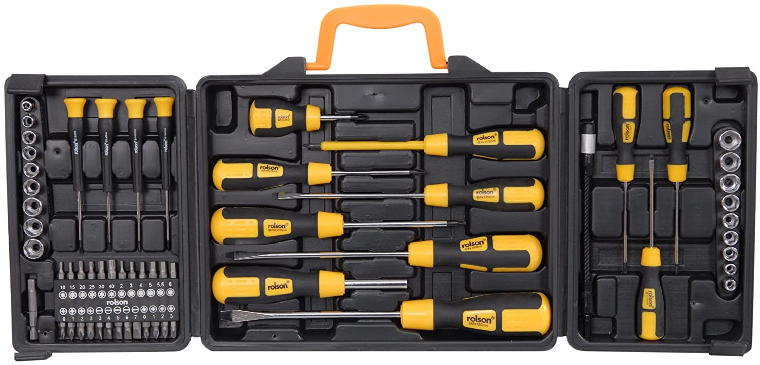 rolson tools 60 piece screwdriver set case included only add on item amazon hotukdeals. Black Bedroom Furniture Sets. Home Design Ideas