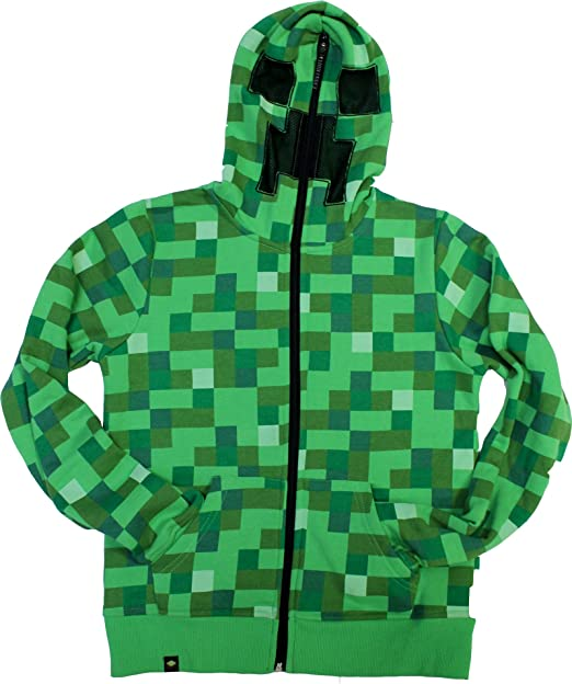 Official Licensed Minecraft Creeper Hoodie - YOUTH sizes: Amazon.co.uk: Clothing