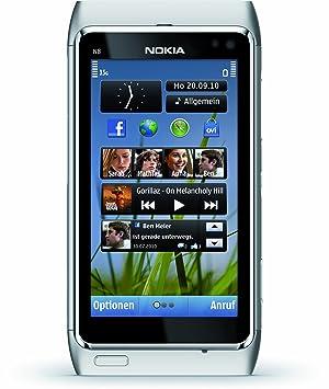 """Nokia N8 Smartphone Écran tactile 8,9 cm (3,5"""") Appareil photo 12 Mpx Wi-Fi Argent (Import Allemagne)"""