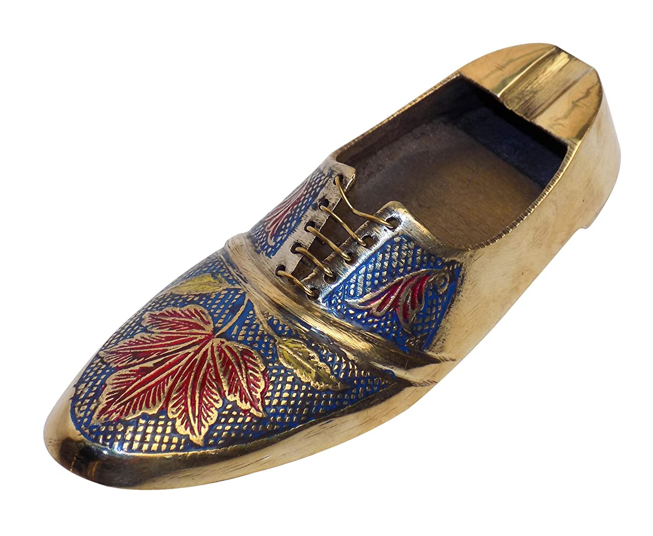 DIWALI OFFER Crafts'man ASHTRAY/PAPER WEIGHT Vintage Style Antique Looking Shoe Shape Paper weight 0