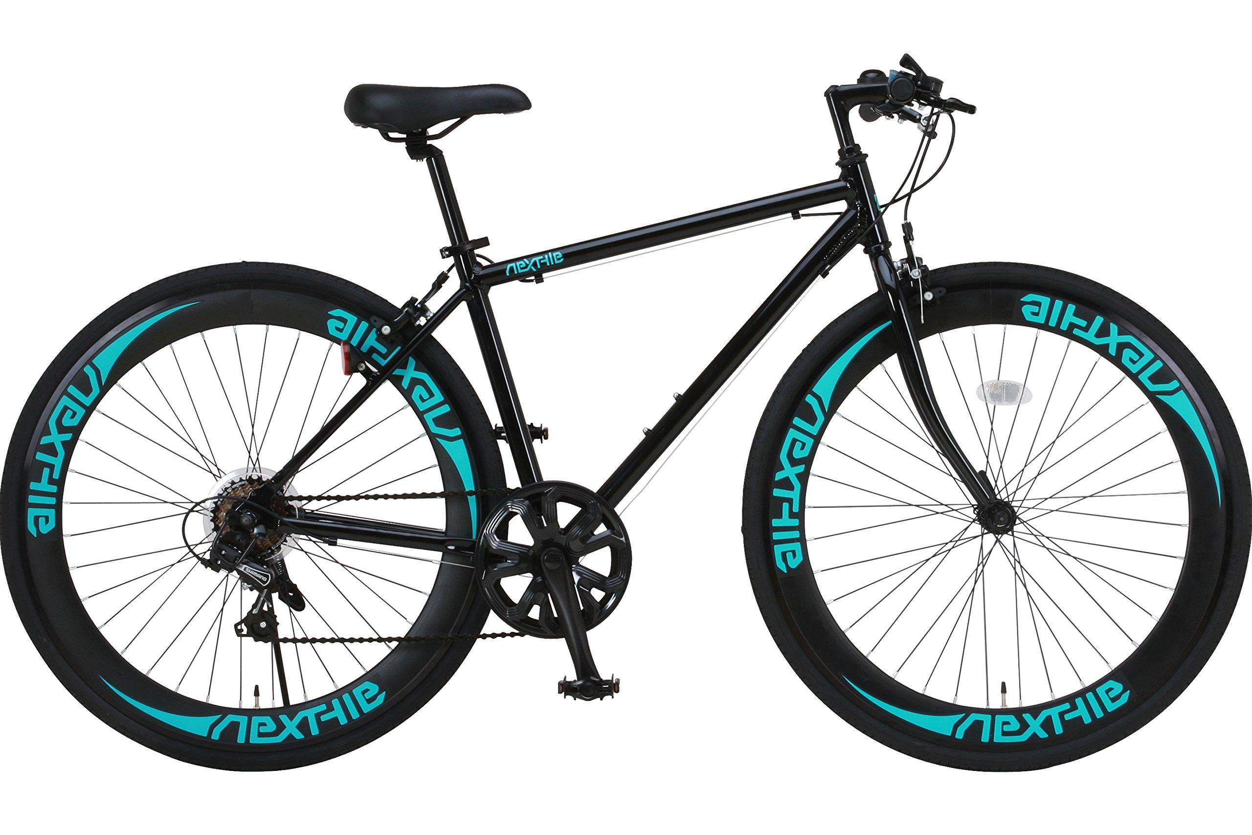otomo(オオトモ) NEXTYLE (ネクスタイル)700Cクロスバイク アルミフレーム シマノ7段変速 ディープリム 前輪クリックリリース CNX-7006-GN(ブラック/グリーン)