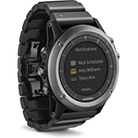 Garmin Fenix3 Metal Band Multisport GPS Watch (Sapphire Gray) - Manufacturer Refurbished