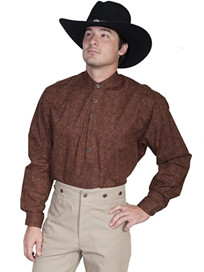 Victorian Men's Shirts- Wingtip, Gambler, Bib, Collarless Scalloped Bib Shirt  AT vintagedancer.com