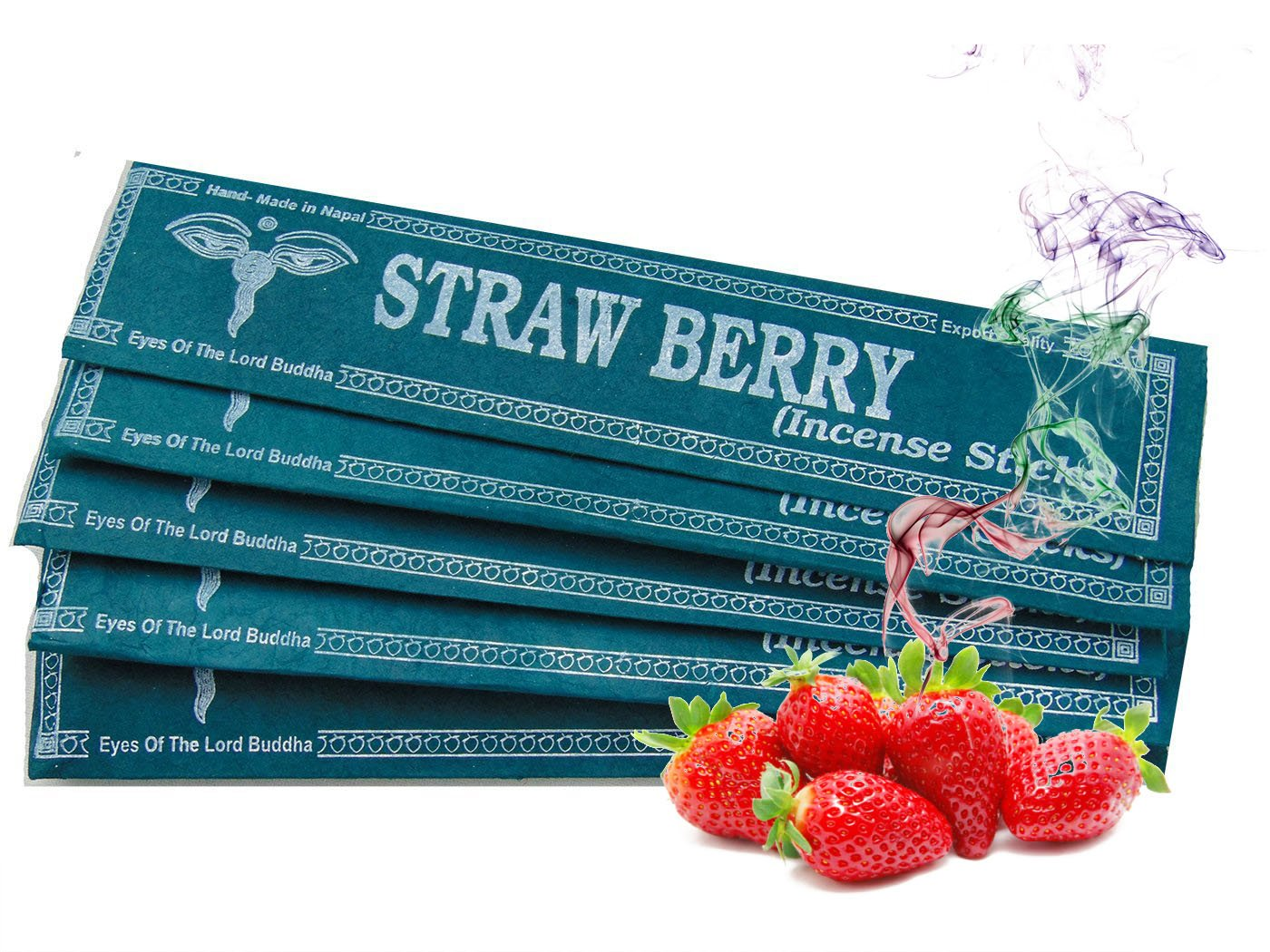 Dancing Buddha Strawberry Handmade Incense in lokta paper Pack of 5 Includes Free Meditation Guide юбка strawberry witch lolita sk