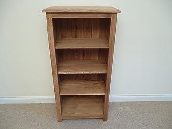 Libreria in legno di quercia, 600x 1200, CD e DVD con 3ripiani, ideale per studio o soggiorno