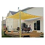 Outdoor Sun Shade Sail Canopy, 8' x 13' Rectangle Shade Cloth Patio Cover - UV Block Sunshade Fabric Awning Shelter for Pergola Backyard Garden Lawn (Sand) (Color: Sand, Tamaño: 8' x 13' Rectangle)