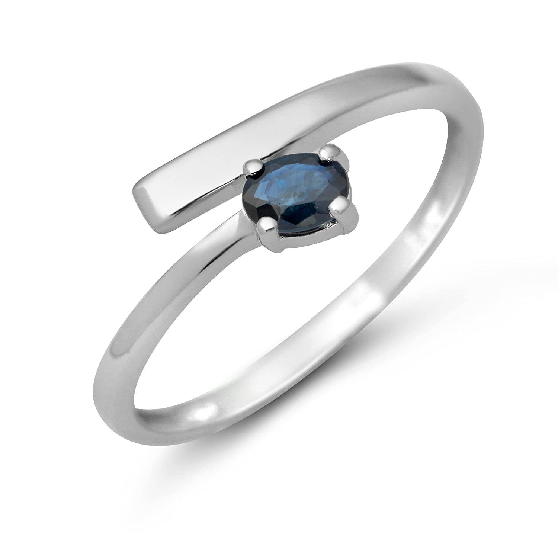 Miore Damen Ring 9 Karat (375) Weißgold Saphir jetzt kaufen