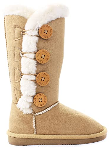 JJF-Shoes-Kids-Faux-Fur-Lined-Bottons-Mid-Calf-Shearling-Winter-Snow-Boots