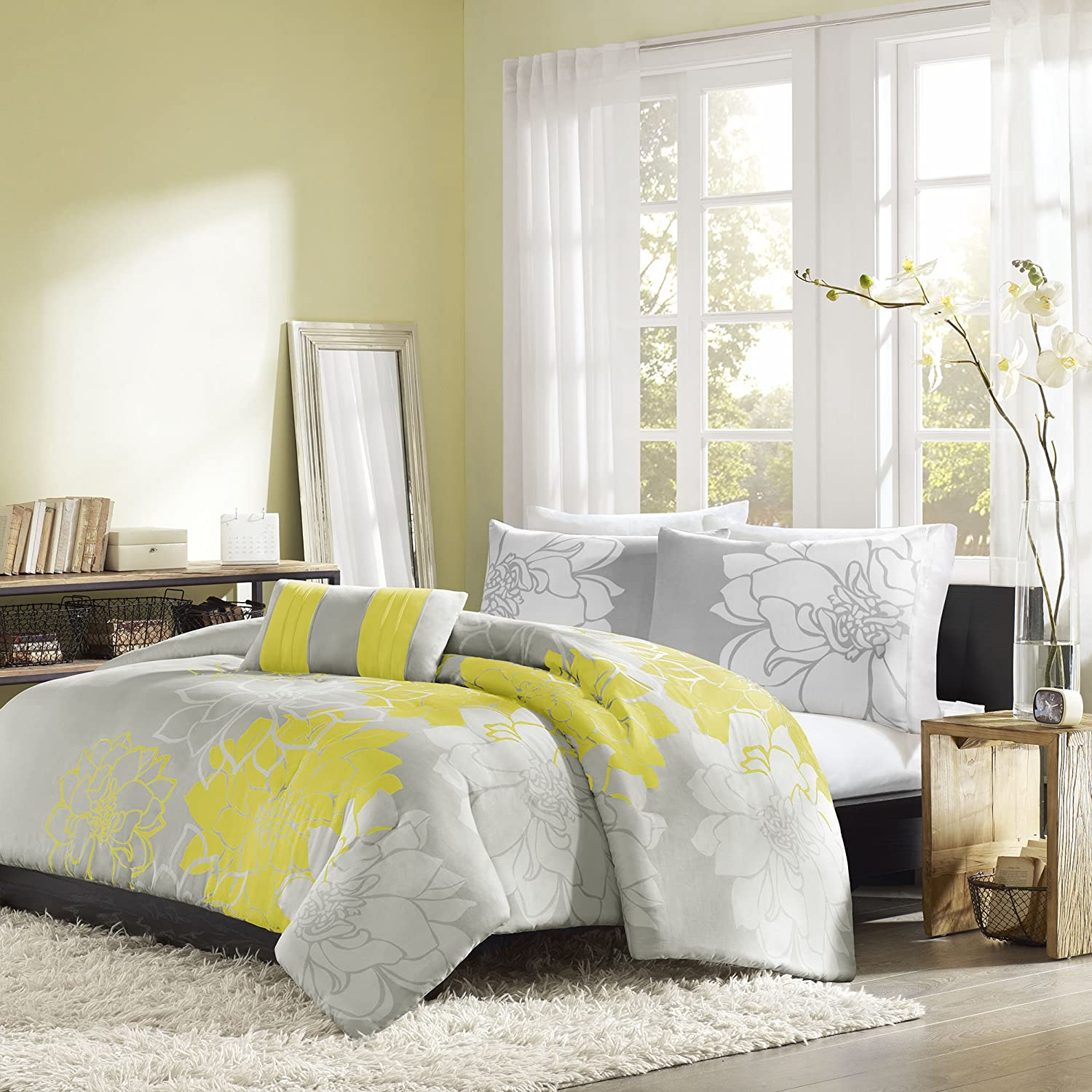 Yellow And Grey Bedding Fel7 Com