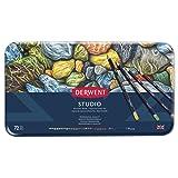 Derwent Studio Colored Pencils, 3.4mm Core, Metal Tin, 72 Count (32201) (Color: Assorted, Tamaño: 72 Count)