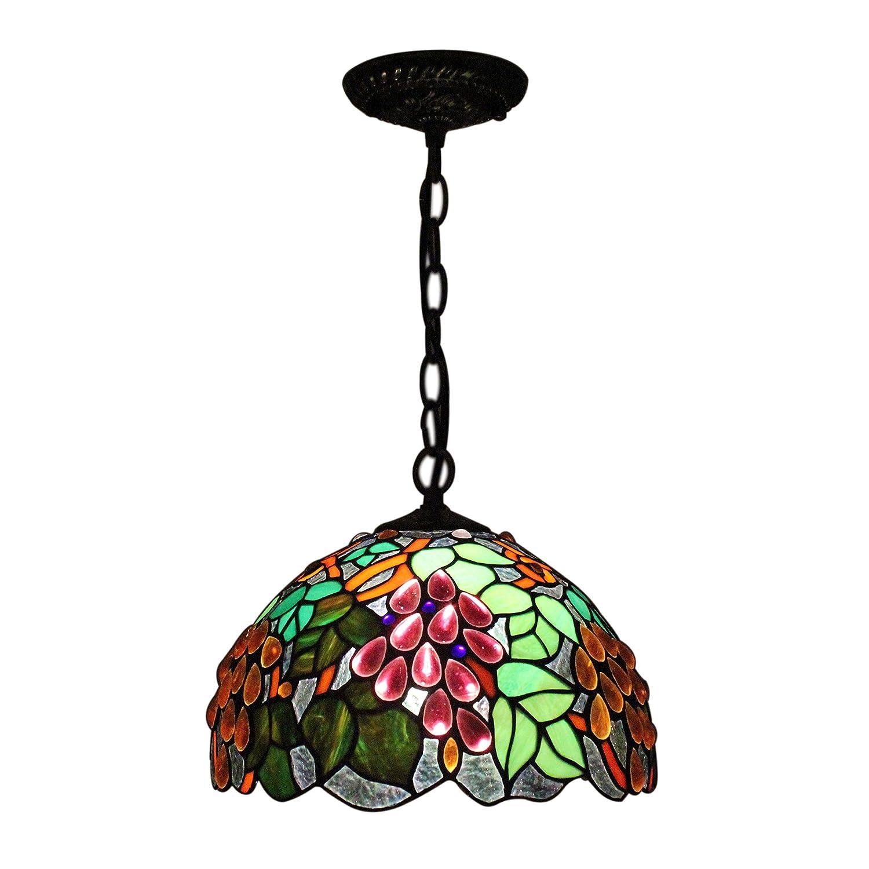 Gweat Weinlese-dekorative Rural 12-Zoll-Tiffany-Art-Trauben Series ...