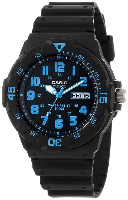 Casio-Unisex-MRW200H-2BV-Neo-Display-Black-Resin-Watch