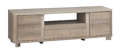 GAMI LUKKA TV Bench with Particleboard, Grey Hazelnut