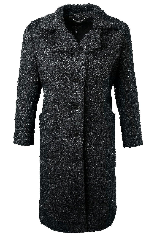 Ulla Popken Damen Wollmantel 701692 große Größen