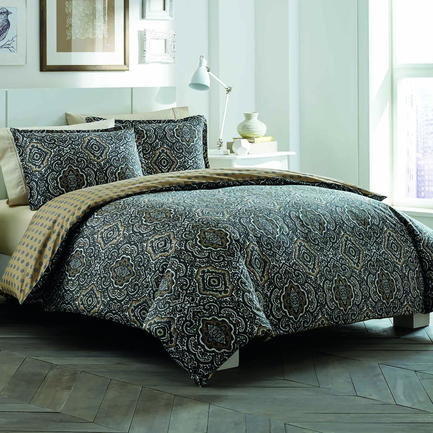 city scene bedding sets  ease bedding with style - city scene milan charcoal duvetsham set charcoal twin
